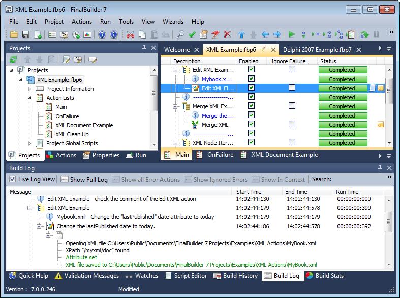 FinalBuilder full screenshot