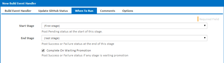 Specify when to run the status updates