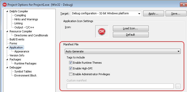 Windows Manifest Files